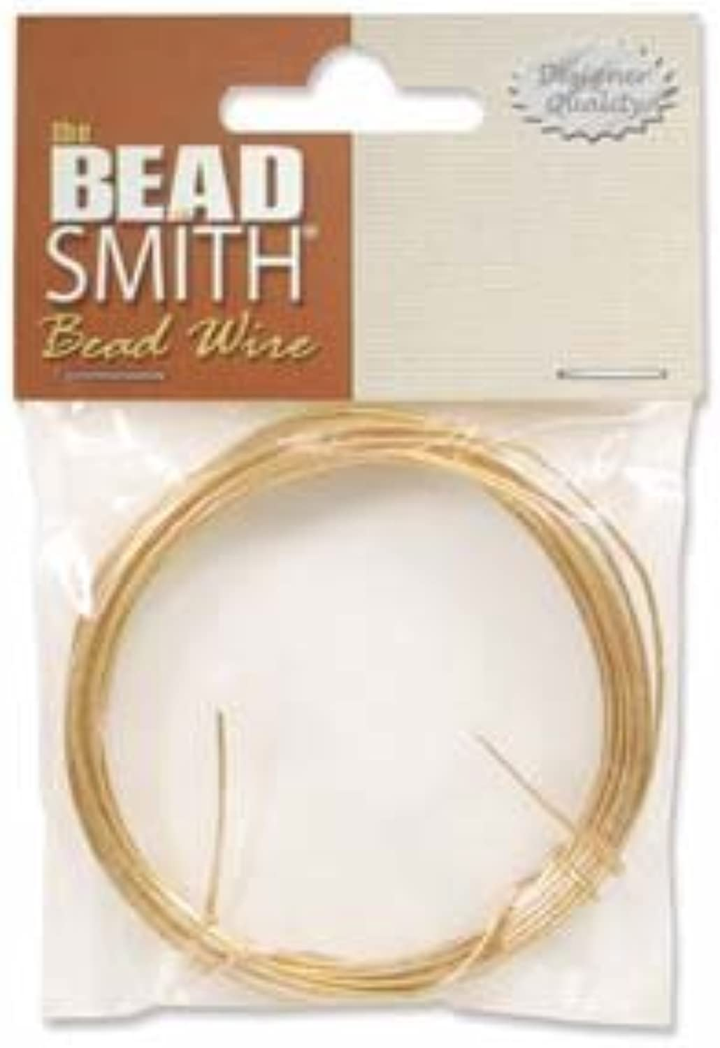 gold Plated German Bead Craft Wire 24 Gauge .5 Dia 12 Meters 42649