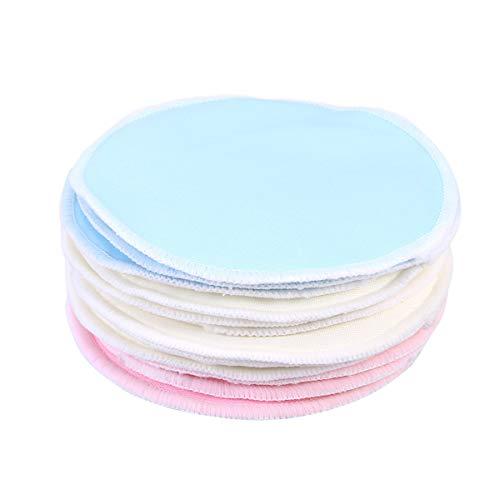 Frcolor 12pcs tampons de démaquillant en bambou, tampons doux visage réutilisables soins de la peau tampons de tissu de lavage (3 couleurs)