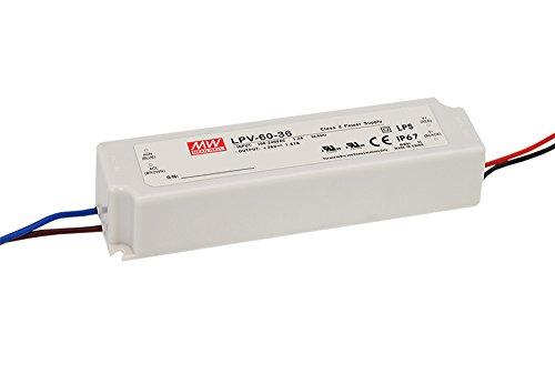 LPV-60-24 60W 24V 2.5A,MEAN WELL, LED Impermeable Cambiar La Fuente De Alimentación,Converter Para la, El Transformador,Switching Power Supply AC- DC