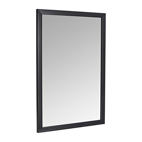 AmazonBasics Espejo para pared rectangular, 60,9 x 91,4 cm - marco estándar, negro