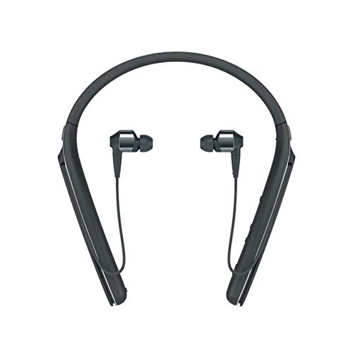 Sony Premium Noise Cancelling Wireless Behind-Neck in Ear Headphones - Black (WI1000X/B) (Renewed)