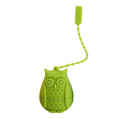 GGG Filtre à infusion en forme de Hibou réutilisable de filtre à thé en silicone Outil de nouveauté - Vert