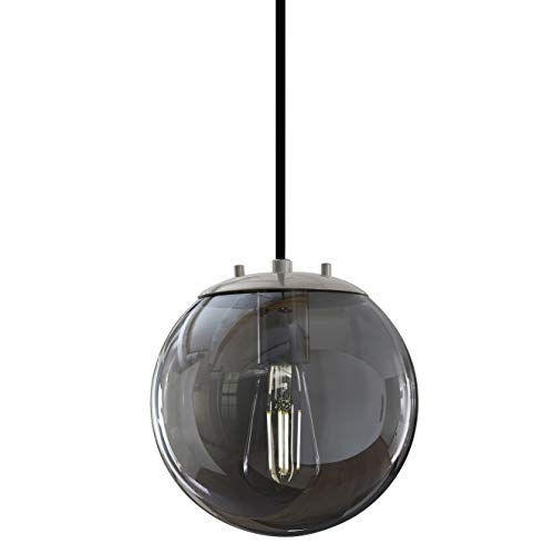 Sferra Brushed Nickel Globe Pendant Light Fixture - Farmhouse Pendant...