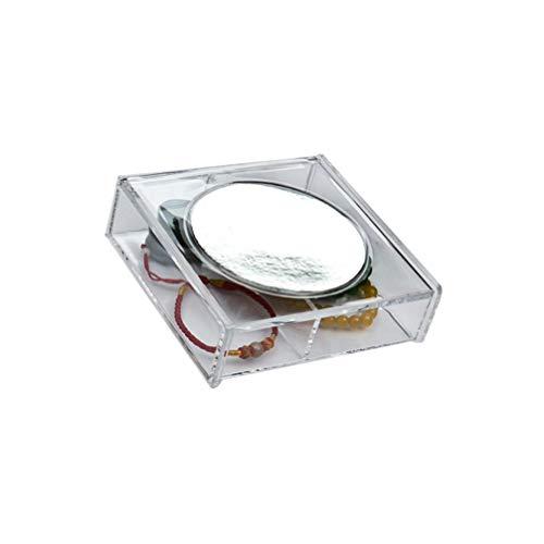 Beaupretty Contenitore per Trucco in Plastica con Contenitore Trasparente per Gioielli Contenitore per Cosmetici Organizzatore per Bagno in Camera