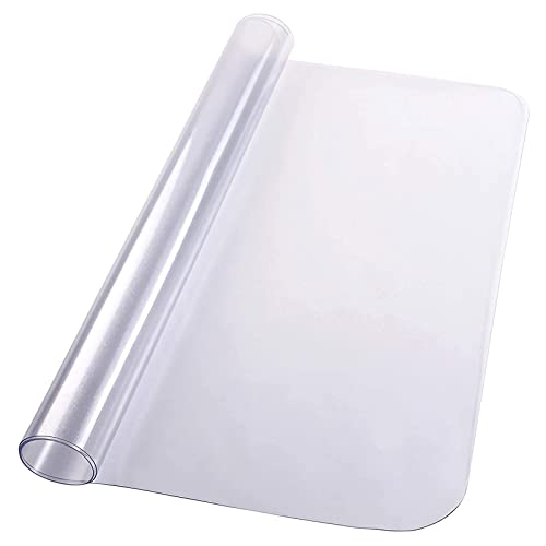 Golvskyddsmatta Transparent för kontorsstol för hårt golv Golvmatta Stolplatta Pvc-skrivbordsunderlägg 1,5 mm reptålig klar stolmatta.(Size: 60x140cm/23.62x55.12in)