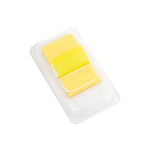 Grapas adhesivos ¢1'banderas con dispensador de pop-up, amarillo, 2/PACK (14111)