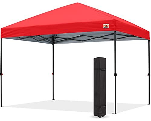 ABCCANOPY 3x3M Pavillon wasserdicht Pop-Up Gartenpavillon Festival Sonnenschutz,inkl.Tasche,rot