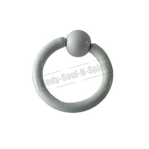 Cercle BLANC 6mm BSR Perçage corps Boule Nez Lèvre Cartilage Oreille 316L acier