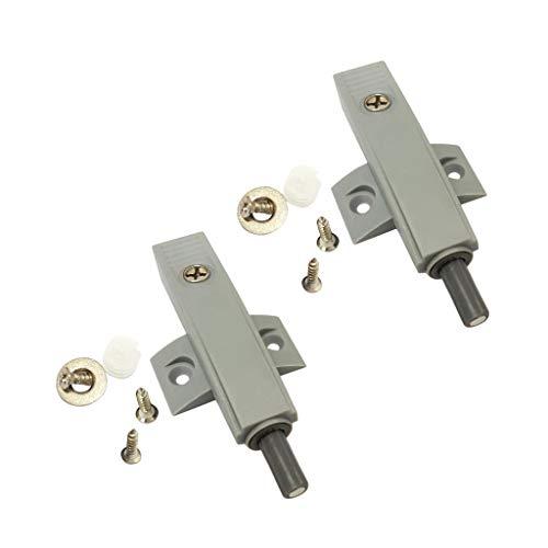 gazechimp 2x Amortiguador de Puerta de Cierre Automático Amortiguadores de Puerta de Armario de Armario con Tornillos