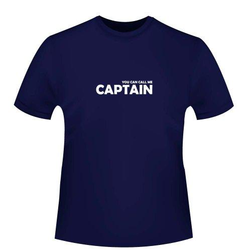 You can Call me Captain, Herren T-Shirt, Größe XL, Navy