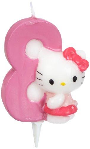 Dekoback 02-08-00175 - Vela para Tartas con número 8, diseño de Hello Kitty