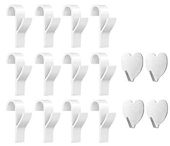 Huker Gancho para Radiador Toallero, Gancho para Radiador de Toalla de 12 Piezas y 6 Piezas Ganchos Adhesivos Toalla (12 Piezas)
