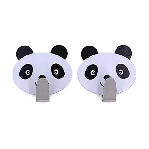 Tierhaken selbstklebend Kinder Wandhaken Handtuchhaken Schlüsselhaken Klebehaken Garderobenhaken Handtuchhalter ohne Bohren (Kleiner Panda)