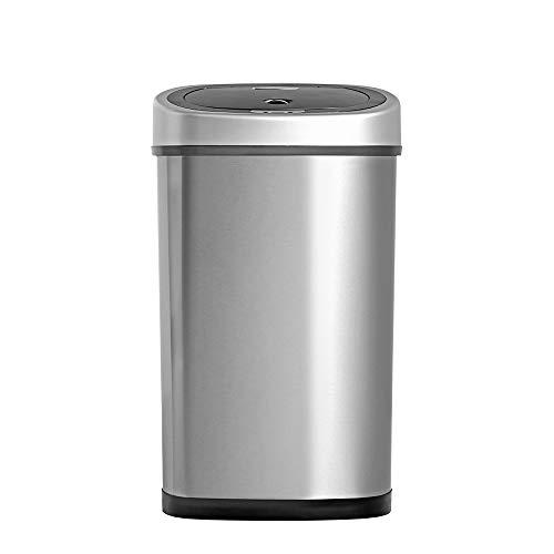 Luxus Abfalleimer mit Sensor, 50 L / 42L, Hochwertiger Edelstahl, Automatische Mülleimer mit Bewegungssensor von Homra (50 L)