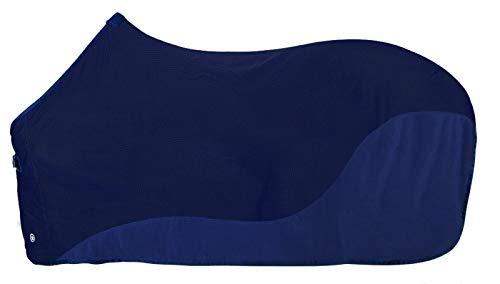 PFIFF 102681 Fliegendecke mit Fleece, Insektenschutzdecke Pferdedecke, Blau, 135 cm