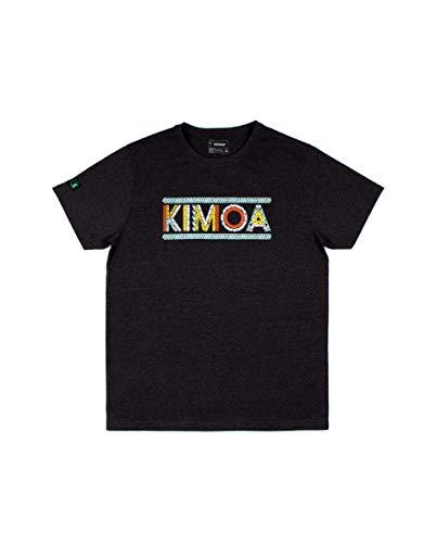 Kimoa Camiseta Sound, Unisex Adulto, Negro/Gris, M