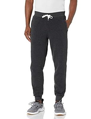 Southpole Men's Active Basic Jogger Fleece Pants, Heather Charcoal, Medium
