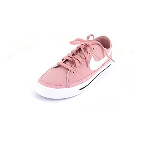 Nike Court Legacy, Scarpe da Ginnastica Donna, Pink Glaze White Black Team Or, 45 EU