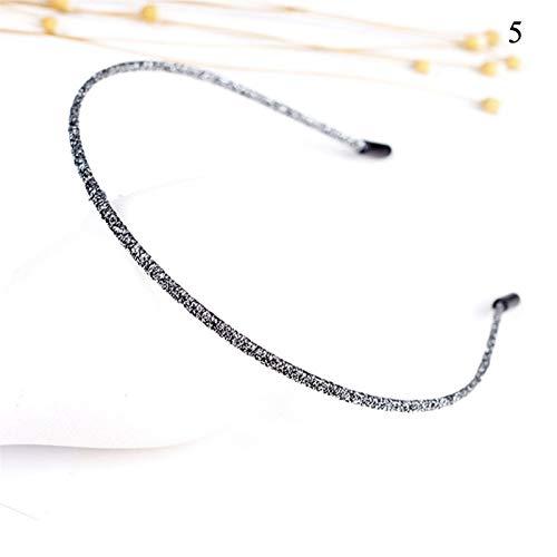JSJJARD Cintas de Pelo Banda de Pelo Perlas de Pelo Accesorios for el aro de Cristal de Las Mujeres de Las Vendas Adornos (Color : I5)