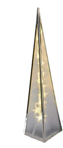 Formano Weihnachtsdeko Pyramide beleuchtet mit Drehmotor und Sternfolie incl Adapter (60 cm)