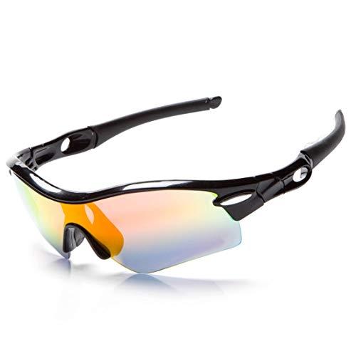 Fusanadarn Winddichte mountainbike-sportbril voor outdoor-activiteiten met bril voor mannen en vrouwen