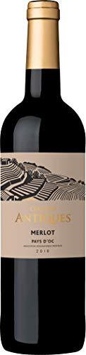 Collines Antiques, Merlot Pays d'Oc IGP, vino rosso, annata 2018, 750 ml