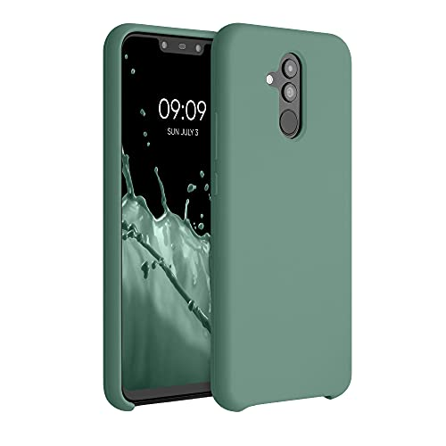 kwmobile Hülle kompatibel mit Huawei Mate 20 Lite - Hülle Silikon gummiert - Handyhülle - Handy Hülle in Tannengrün