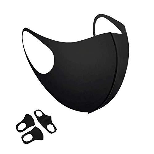 Mundschutz Maske Schwarz [10er Pack] Versand aus Deutschland - Mund und Nasenschutz Waschbar stylische und Flexible Schutzmaske