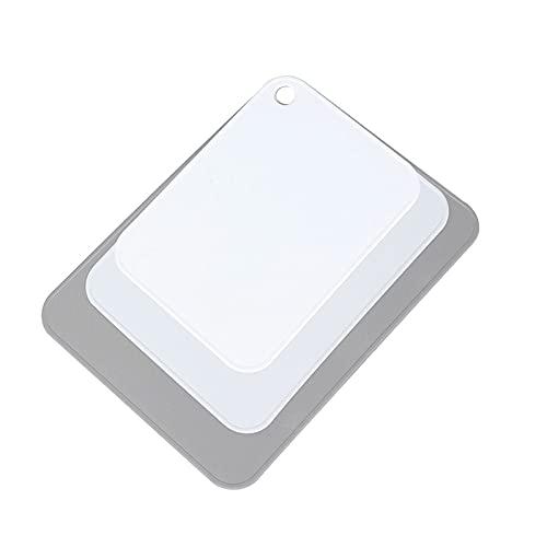 ZSP Tabla de cortar tabla de cortar Juego de tabla de cortar de plástico para cocina con agujero de gancho para verduras y frutas (blanco) Tabla de cortar (color: A)