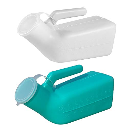 Guapie 2 Packs 1000ml/34oz Male Portable Urinal Pee Bottles Home Urinal Potty for Men