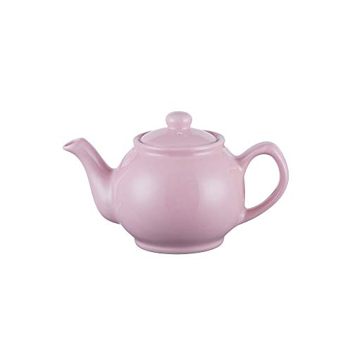 Price & Kensington theepot met deksel - kleur: pastel roze, roze - typisch Engelse theepot - 2 kopjes