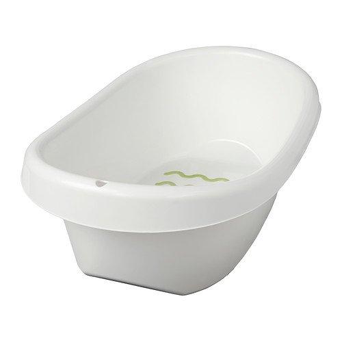 IKEA LATTSAM -Baby-badkuip wit groen