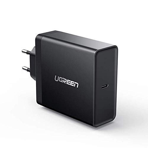 "UGREEN 65W Cargador Rápido USB C PD, USB PD Cargador USB-C 65W Quick Charge QC 3.0 Adaptador Carga para MacBook 2015/2016, MacBook Pro 13""/15"", iPad Pro 2020 y Huawei Matebook X Pro"