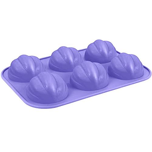 zhangsan Molde de silicona suave con forma de calabaza, para hornear chocolate, tartas, tartas, para manualidades, postres, jabón, velas.
