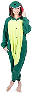Dinosaur Adult Unisex Onesies Animal Cartoon Siamese Pajamas Home Wear Cosplay Pajamas Flannel Sleepwear Home Clothes for ...