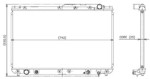 95 lexus es300 radiator - 1