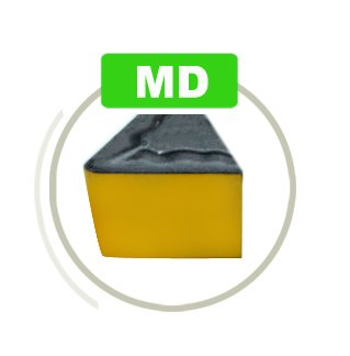 Accusize Industrial Tools Ccmt21.51-Md Cvd Coated Carbide Inserts, 10 Pcs/Box, Black and Yellow, 2200-1008