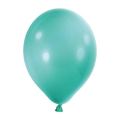 Preis am Stiel Luftballons Türkis Metallic 50 Stück | Ballons | Partyballons | Türkise Ballons