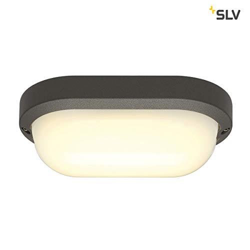 SLV TERANG 2 XL Outdoor Wand- und Deckenleuchte, LED, 3000K, IP44, oval, anthrazit, 22W