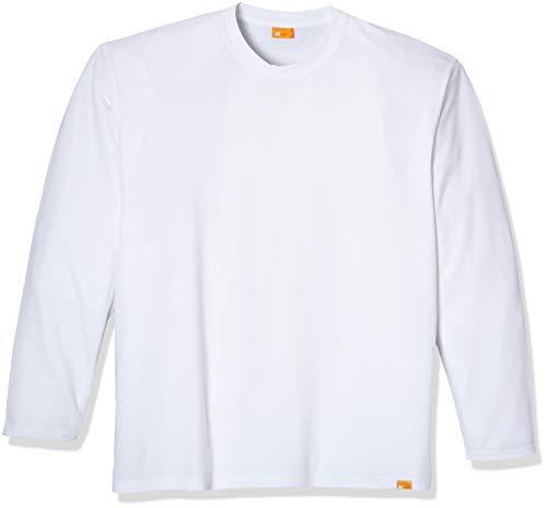 iQ-UV Herren 50+ Sonnenschutz mit Rundhals, Regular Geschnitten T-Shirt Langarm Uv, white, 3XL/58