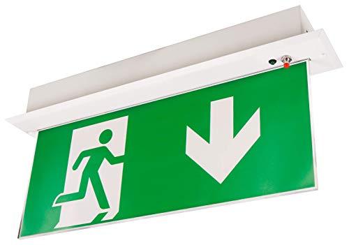 McShine - LED Fluchtwegleuchte | FL-250 | IP20 | Exit Schild 230V | Notausgangsschild zur Deckenmontage