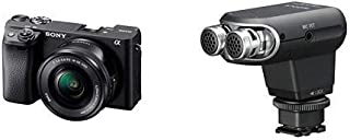 Sony Alpha A6400 Mirrorless Camera E Mount Compatible with 16-50mm Lens- Ilce-6400L/B with Sony ECMXYST1M Stereo Microphon...