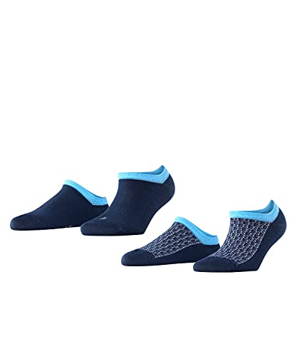 ESPRIT Damen Monogram 2-Pack W SN Socken, Blau (Marine 6120), 35-38 (UK 2.5-5 Ι US 5-7.5) (2er Pack)