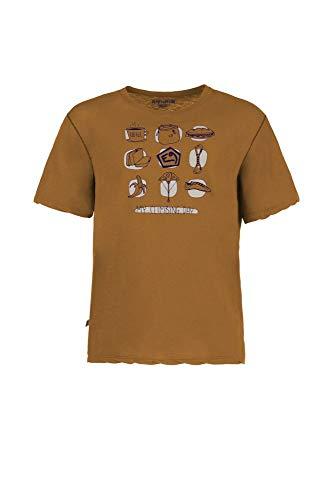 E9 Enove - My Day - T-Shirt Uomo Manica Corta con Stampa Mustard (S)