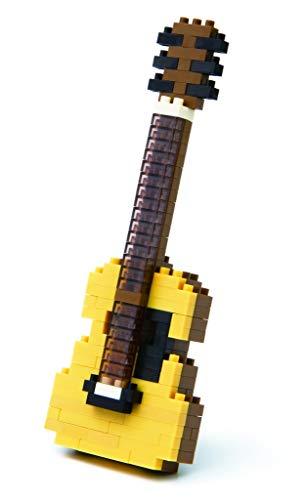nanoblock NBC-096 - Acoustic Guitar / Akustikgitarre, Minibaustein 3D-Puzzle, Mini Collection Serie, 150 Teile, Schwierigkeitsstufe 2, mittel