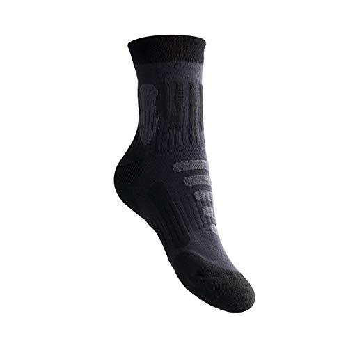 MyDeer Wandersocken, Vollfrottee Socken, Wintersocken mit Thermo Effekt, Trekkingsocken für Herren und Damen, viele Größen, Atmungsaktive Socken, Anti-Blasensocken, Antibakteriell (grau, 42-45)