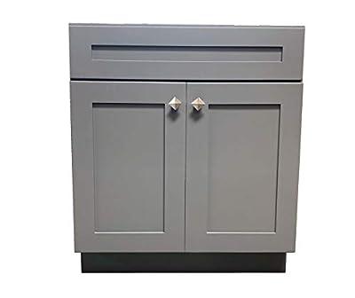 "24"" Wide x 21"" Deep New Grey Shaker Single-Sink Bathroom Vanity Base Cabinet GS-V2421"