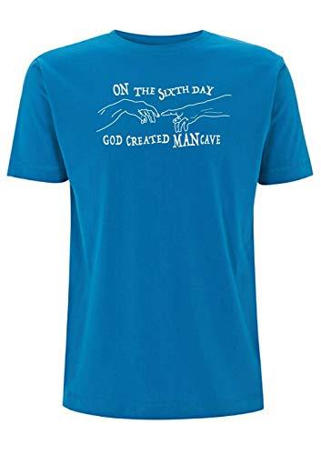 Camiseta de hombre cueva creada por Dios en el sexto día, herramienta...