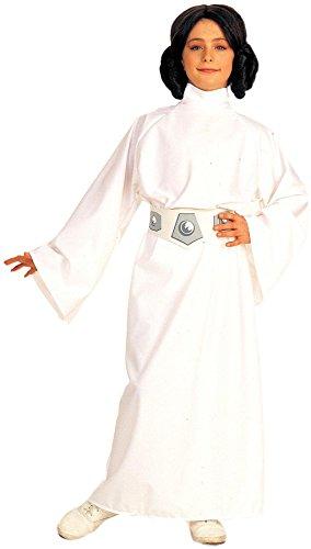 Star Wars Prinzessin Leia Deluxe Kostüm für Kinder, Größe:L-140cm