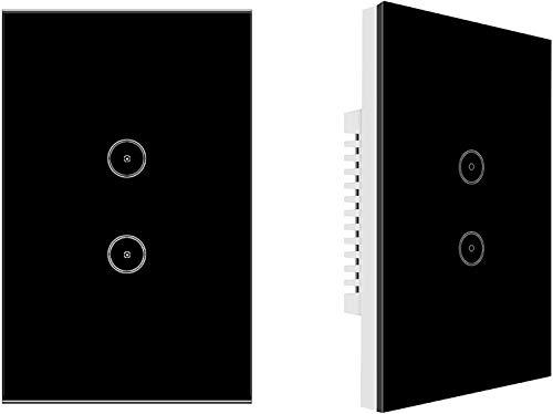 Jinvoo Smart Wall Touch Light Switch, Smart Timing Switch, mando a distancia con smartphone, compatible con iOS y Android, Alexa Echo y Google Assistant, certificado CE y RoHS